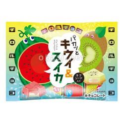 여름한정 키위와 수박맛 초코! 치로루 키위 앤 스이카 7개입